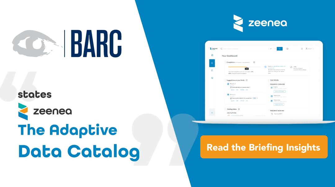 BARC déclare que Zeenea est The Adaptive Data Catalog