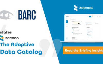BARC, the consulting firm, states Zeenea is The Adaptive Data Catalog