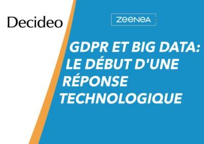 Gdpr et big data: le début d'une réponse technologique